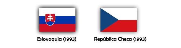 Banderas de Eslovaquia y Chequia